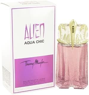 Alien Aqua Chic Perfume by Thierry Mugler, 2 oz Light Eau De Toilette Spray for Women