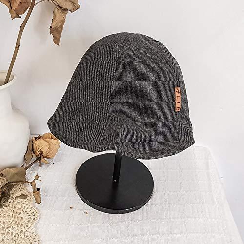 BASDW Ocasional Salvaje Pescador japonés Sombrero Femenino Verano versión Coreana de la protección Solar Playa Sombrero Viaje UV sombrilla Sombrero for el Sol (Color : Grey, Size : One Size)