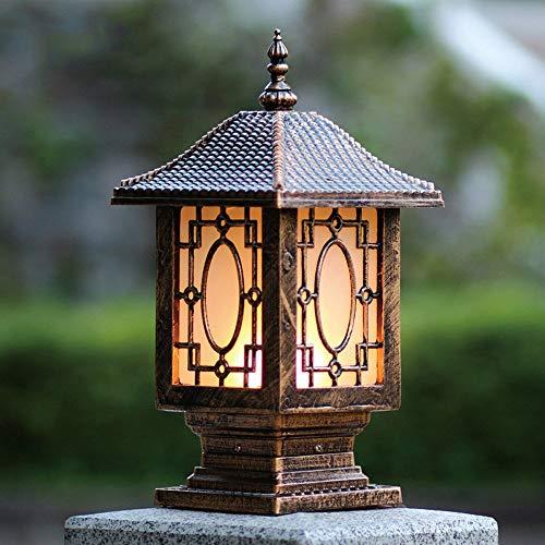 Retro nostalgisch waterdicht roestvrij gegoten aluminium zuil lamp buitenverlichting antieke enkele kop e27 post licht wandlamp hof landschap licht pavilion gras zuil lamp
