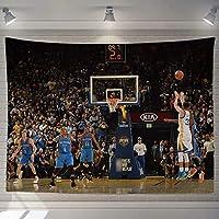 神戸マンババスケットボールタペストリーウォールアートハンギング、ジェームズスポーツベッドルームリビングルーム寮のパーティーの装飾屋外ギフトホーム装飾毛布 H-200*150CM