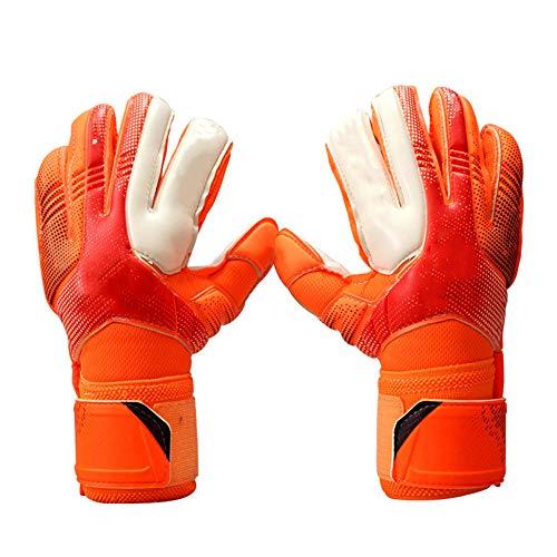 WJQ Torwarthandschuhe - Sichere und Bequeme Passform Zusätzliche Abnutzung und Anti-Rutsch-Eigenschaften zur Verringerung der Verletzungsgefahr - Sehr geeignet für Volleyball im Jugendfußkorb
