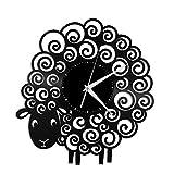 CNLSZM Reloj De Pared De Vinilo Disco De Pared De Vinilo para Oveja Decoración Moderna Y Vintage-con luz led