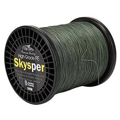 Skysper® 1000m 100%PE Braided Fishing Line 0,1mm-0,6mm 8lb-100lb by Skysper
