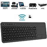 Wireless Keyboard, TedGem 2.4G Wireless Keyboard with Touchpad Keyboard Wireless Soft Touch Keyboard