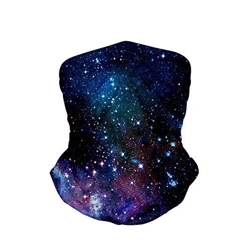 LELEMATE Blue Purple Galaxy Face Mask Cooling Headband Reusable Bandana Neck Warmer Gaiter for Men Women's Scarf Sport Headwear Handband Balaclava for Outdoor Yoga Hiking Fishing Hunting Running Rave