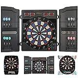 Physionics Diana Electrónica - 27 Juegos (159 Variaciones), Inc. 12 Dardos con 100 Puntas de Repuesto - LCD Juego de Dardos Automática, Dartboard, Darts