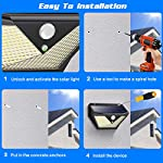 [4 Pack] Solar Lights Outdoor, Trswyop 136LED Solar Security Lights Motion Sensor with 3 Lighting Modes, 270°Wide Angle,1400 Lumens Solar Powered Lights Wall Lights for Outside 6