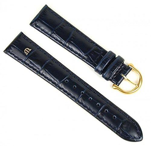 Maurice Lacroix Uhrenarmband Leder Louisiana-Krokooptik dunkelblau 18mm 293061850G