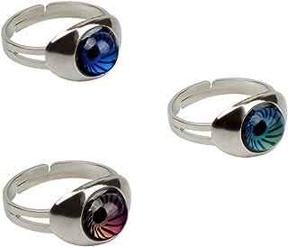 Rimobul Authentic Adjustable Mood Ring,Magic Eyes - Pack of 3