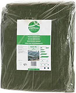 Toldo reforzado gramaje 120 grs- 4 x 6 m- color verde - Catral 560104