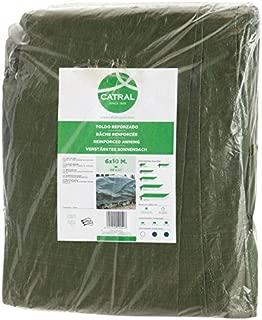 Toldo reforzado gramaje 120 grs, 4 x 6 m, color verde -