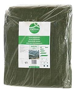 Toldo reforzado gramaje 120 grs, 4 x 6 m, color verde - Catral 560104