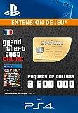 Grand Theft Auto Online GTA V Whale Shark Cash Card 3,500,000 GTA-Dollars Code Jeu PS4 vous permet de résoudre vos problèmes d'argent et vous aide à obtenir ce que vous voulez à travers Los Santos et Blaine County.