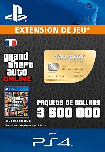 Grand Theft Auto Online   GTA V Whale Shark Cash Card   3,500,000 GTA-Dollars   Code Jeu PS4 - Compte français