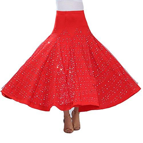 Mujer Falda Maxi Larga para Danza del Vientre Tribal Trajes De Danza con Lentejuelas