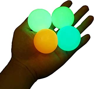 Glow in The Dark Sticky Ceiling Balls, Stress Balls for Adults and Kids Toys (4 Pieces)