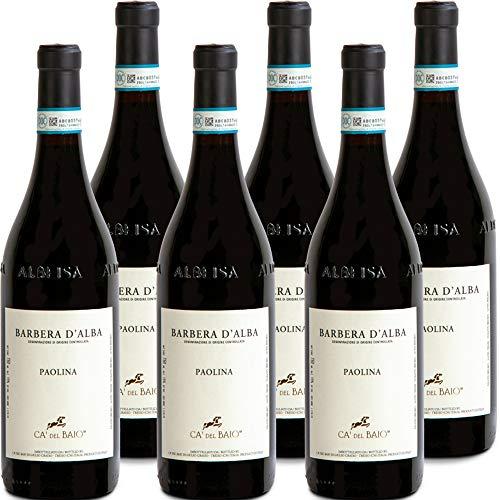 Barbera D'Alba DOC | Ca' del Baio | Paolina | Vino Rosso del Piemonte | Confezione 6 Bottiglie 75 Cl | Idea Regalo