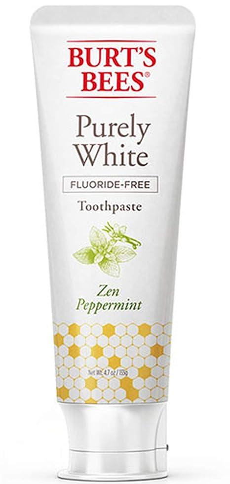 伝染性削除するモーテルバーツビーズ Burt's Bees ピュアホワイト 歯磨き粉 ホワイトニング オーガニック ペパーミント エコ 133g