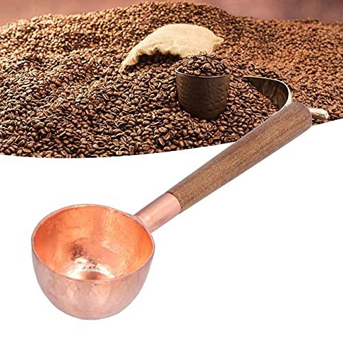 Cuchara de café en grano, hermosa y duradera cuchara de café de cobre para cuchara de café para el hogar para uso comercial