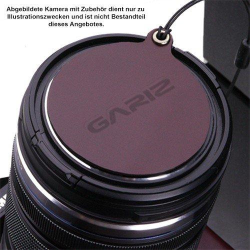 Exklusive Gariz 'capfix' Piel Copia de Seguridad para la protección contra el Polvo Tapa o el Tapa de Lente de Olympus Pen F Micro Cuatro Tercios Objetivos (XA de cfem5br). (Powered by SIOCORE)