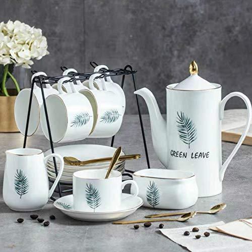 donfhfey827 Kaffeetassen-Set im europäischen Stil Britische leichte Tasse Feines Nachmittagstee-Set Haushaltskeramik-Tasse und Untertasse Einfacher Kleiner