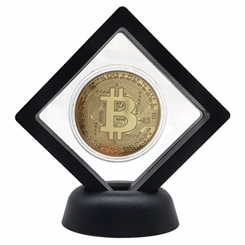 Bitcoin Set with Display Item Case and Box, Home Room Office Decoration Collector's Set