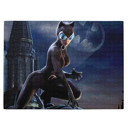 VOROY Jigsaw Picture Puzzles 520 Pcs Catwoman Abatman Arkham City Night Game Educational Family Game Wall Artwork Gift For Adults Teens Kids 15' X 20.4'