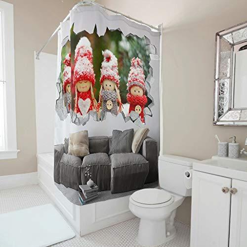 ANVPI Douchegordijn Girl, sofapatroon antibacterieel waterdicht ontwerp Girl gordijn 200x200cm Bad Gordijn voor badkuip