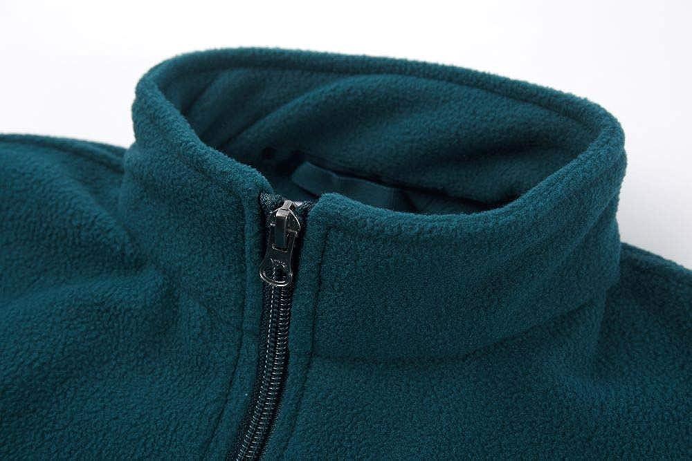 YINGJIELIDE Girls Fleece Jacket with Hood Kids Full-Zip Coat Soft Warm Outdoor Sweatshirt