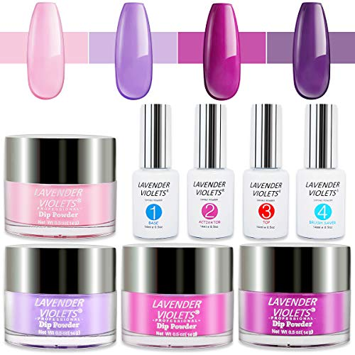 Lavender Violets Powder Dip Nail Kit Acrylic Dipping Powder Color Set 763