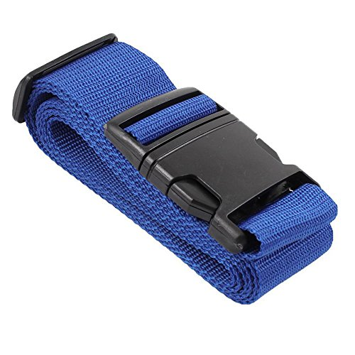 Vektenxi Adjustable Luggage Strap Suitcase Belt Packing Belt Bag Safety Straps Travel Accessories with Plastic Closure Buckle Blue 1 Piece