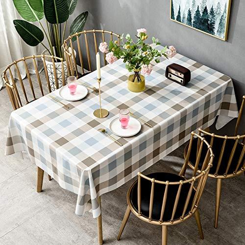 langchao Mantel impermeable antiquemaduras, libre de aceite, desechable de PVC, mesa de comedor, mesa de estudio, tela nórdica, mesa de café