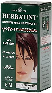 Herbatint Permanent Herbal Haircolor Gel, 5m-Light Mahogany Chestnut 4.5 oz (135 ml)