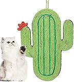 Cute Cactus Shape Cat Scratching Mat, Cat Natural Jute Scratching Pad, Cat Scratcher Mat, Cat Funny Playing Toy, Hanging Cat Scratching Pad Board, Cat Claw Nail Polishing Toy, Jute Cat Scratcher