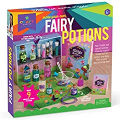 MAGIC AND MORE: Mix up nine unique fairy potions. ENCHANTING GIFT: Kids ages 6+ will love learning how to make their own special magic with this on-trend gift. SIMPLE RECIPES: Follow the directions in the recipe book left by fairy friends to make mag...