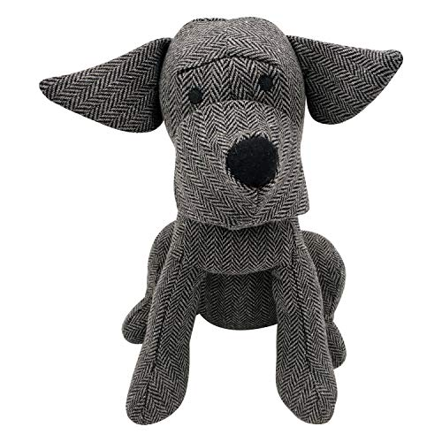 Fabric Animal Door Stopper Gifts for Mom Doorstops Book Stopper Wall Protectors Anti Collision Decorative Dark Grey Dog