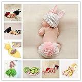 Yichener Baby-Kostüm für Neugeborene, gehäkelt, gestrickt, Requisiten, Foto-Requisiten, für...