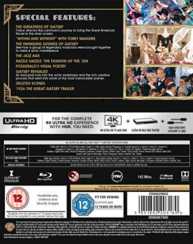 The Great Gatsby [4K Ultra HD] [2014] [Blu-ray] [2016] [Region Free]