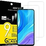NEW'C 2 Unidades, Protector de Pantalla para Huawei Y9 Prime 2019, Enjoy 10 Plus, Antiarañazos, Antihuellas, Sin Burbujas, Dureza 9H, 0.33 mm Ultra Transparente, Vidrio Templado Ultra Resistente