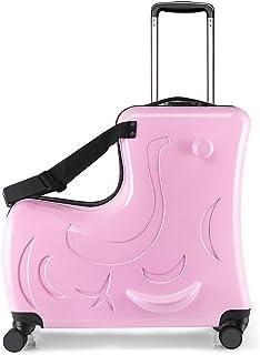 スーツケース 子供が乗れる 木馬形 キッズキャリーケース キャリーバッグ 軽量 静音 かわいい 丈夫 旅行 帰省 お出掛け 遠足 一年保証