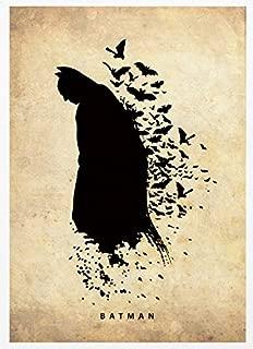 OHMYPOSTER Batman Minimalist Vintage Fan Art Poster