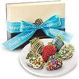 6 Happy Birthday Chocolate Covered Strawberries