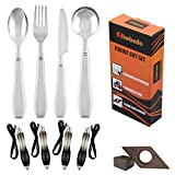 Weighted Utensils Gift Box For Elderly Aids, 9-Pack, Parkinsons, Fat Pen, Book Page Holder, Gifts For Elderly Men Dad Woman Mom, Weighted Parkinson Spoon