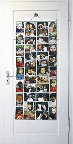 Thinking Gifts Picture Pockets Photo Hanging Display, 80 photos in 40 pockets, Mega, Clear, 1 unit (PPMG )
