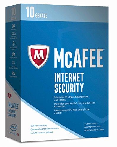 McAfee Internet Security | 2017 Version | 10 Geräte | 1 Jahr | PC/Mac/Smartphone/Tablet | Download