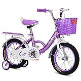 JG Bicicleta para niños, bicicleta para niños, bicicleta para niños de 12/14/16/18 pulgadas, apto para niños de 2 a 11 años, 3 colores (color: B, tamaño: 14 pulgadas)