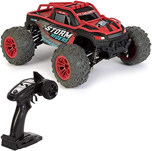 SXLCKJ Coche con Control Remoto 2.4GHz Off Road Dirt Buggy 4 Ruedas motrices RC Car RC Tracked Monster Truck Racer 36 Km/h Velocidad 1:14 (Coche Inteligente)