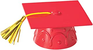 Red Graduation Cap with Tassels Cake Topper
