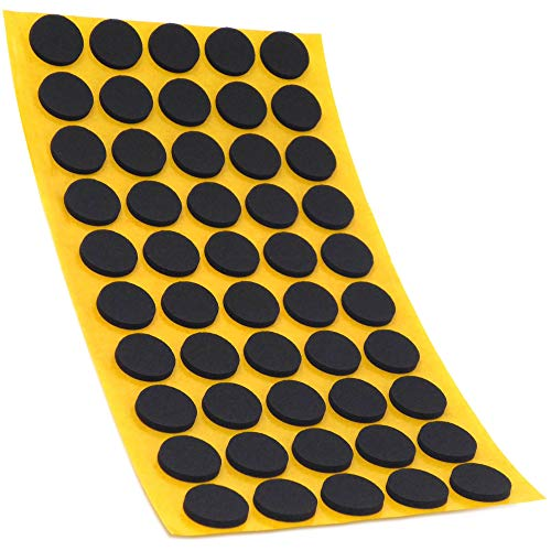 50 x Antirutsch Pads aus EPDM/Zellkautschuk | rund | Ø 16 mm | Schwarz | selbstklebend | Rutschhemmende Pads inTop-Qualität (2.5 mm)