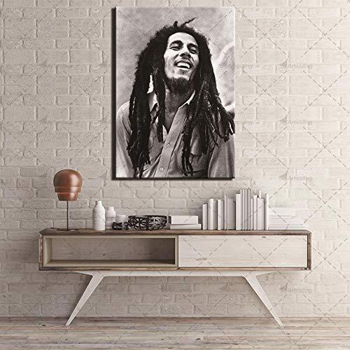 FPUYB 1000 Piezas de Gran tamaño 75x50cm Pieza Bob Marley Pop Singer Wite Black Adulto Juego de descompresión de Madera dificultad Divertido Rompecabezas